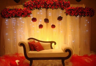 trendz event management, couple backdrop goa, flower backdrop goa
